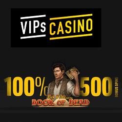 500 bonus spins on Book of Dead slot!