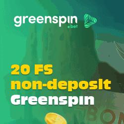 20 gratis spins at Green Spin Bet Casino