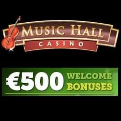 Music Hall Casino | £€$ 500 welcome bonus & exclusive free spins
