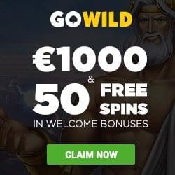 GoWild Casino $/€1,000 FREE and 50 BONUS free spins