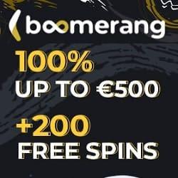 Boomerang Casino free spins game banner