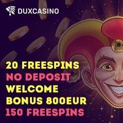 Dux Casino banner 20 FS