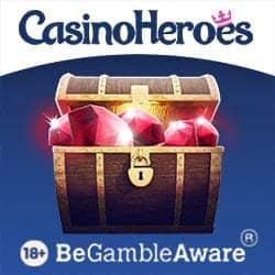 Casino Heroes €5 no deposit bonus and 900 free spins for Scandinavia!