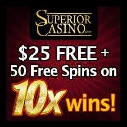 Exclusive Welcome Bonus to SuperiorCasino.com
