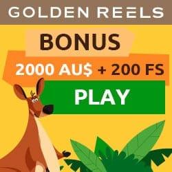 Golden Reels Casino 200% bonus + 200 free spins + $3000 gratis