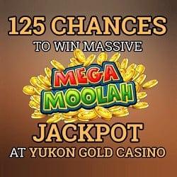 Yukon Gold Casino 125 free spins for EU, Canada, New Zealand