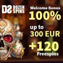 120 freespins and 300 euros bonus