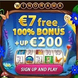 Winorama €7 no deposit bonus