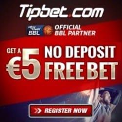 tipbet.com €5 free bet