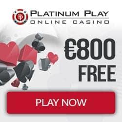 Platinum Play Casino 200% up to €800 free bonus on deposit