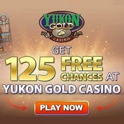 How to get 125 free spins on Mega Moolah at Yukon Gold Casino?