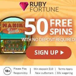 Play 50 Free Rounds on Mahiki Island