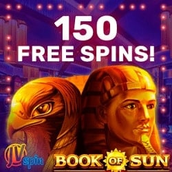 150 free spins on Book of Sun