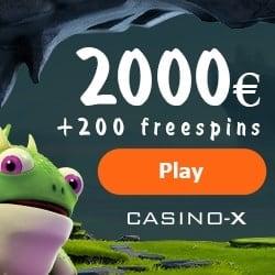 Casino X - 3950€ gratis bonus plus 200 free spins on slot games