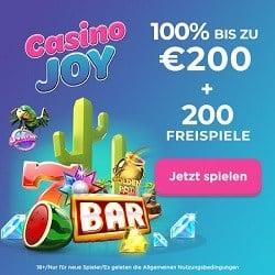 Casino Joy 200 Freispiele plus 1000€ Willkommensbonus