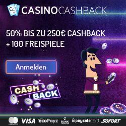 CasinoSecret.com 250€ cashback und 100 freispiele bonus