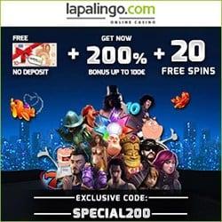 10€ Gratis + 100% Bonus + 20 Freispiele