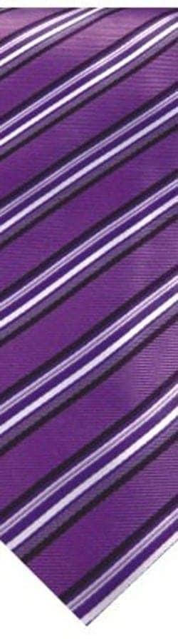 Purple Lavender and White Stripe Skinny Necktie