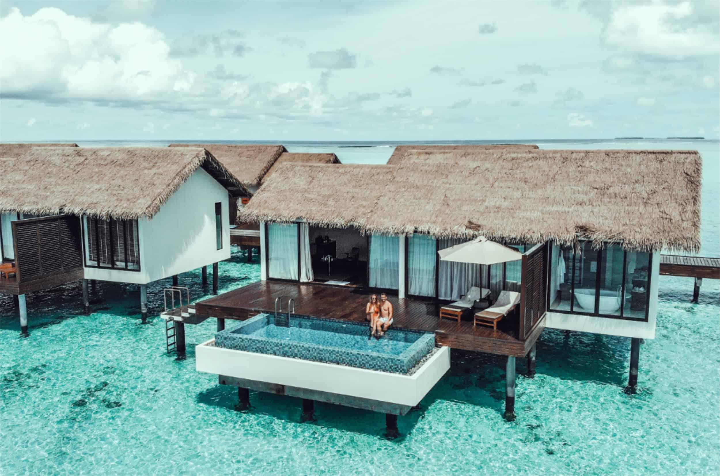 Wasser Villa mit privatem Pool auf den Malediven