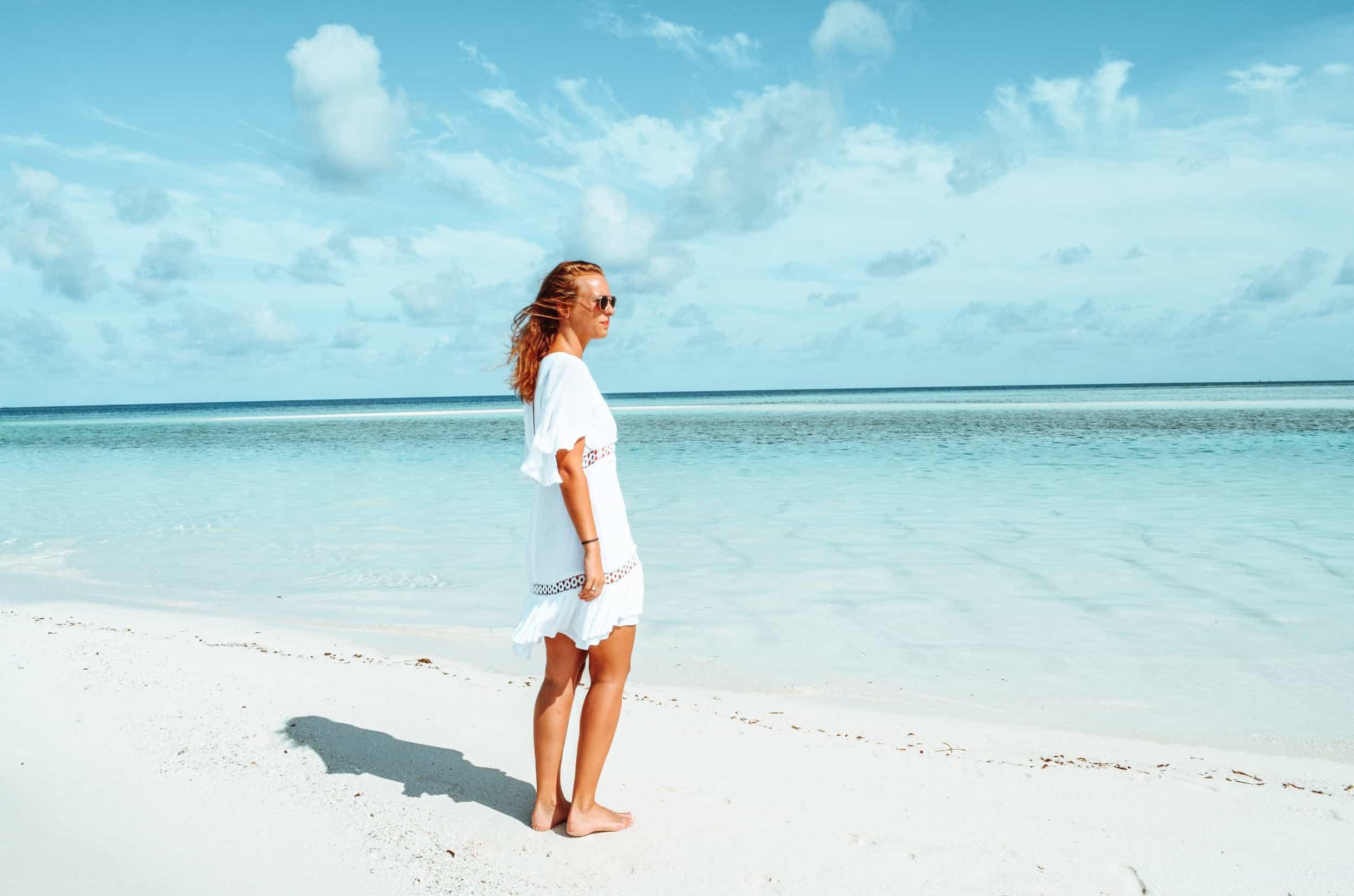 Wunderschöne Sandbank auf den Malediven