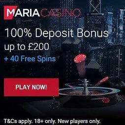 Maria Casino   40 gratis spins and 200% free bonus   Online & Mobile