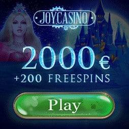 Joy Casino   200 free spins plus £/€/$ 2000 bonus money   No deposit!