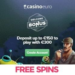 CasinoEuro | €300 free bonus and 100 free spins | 1000+ games
