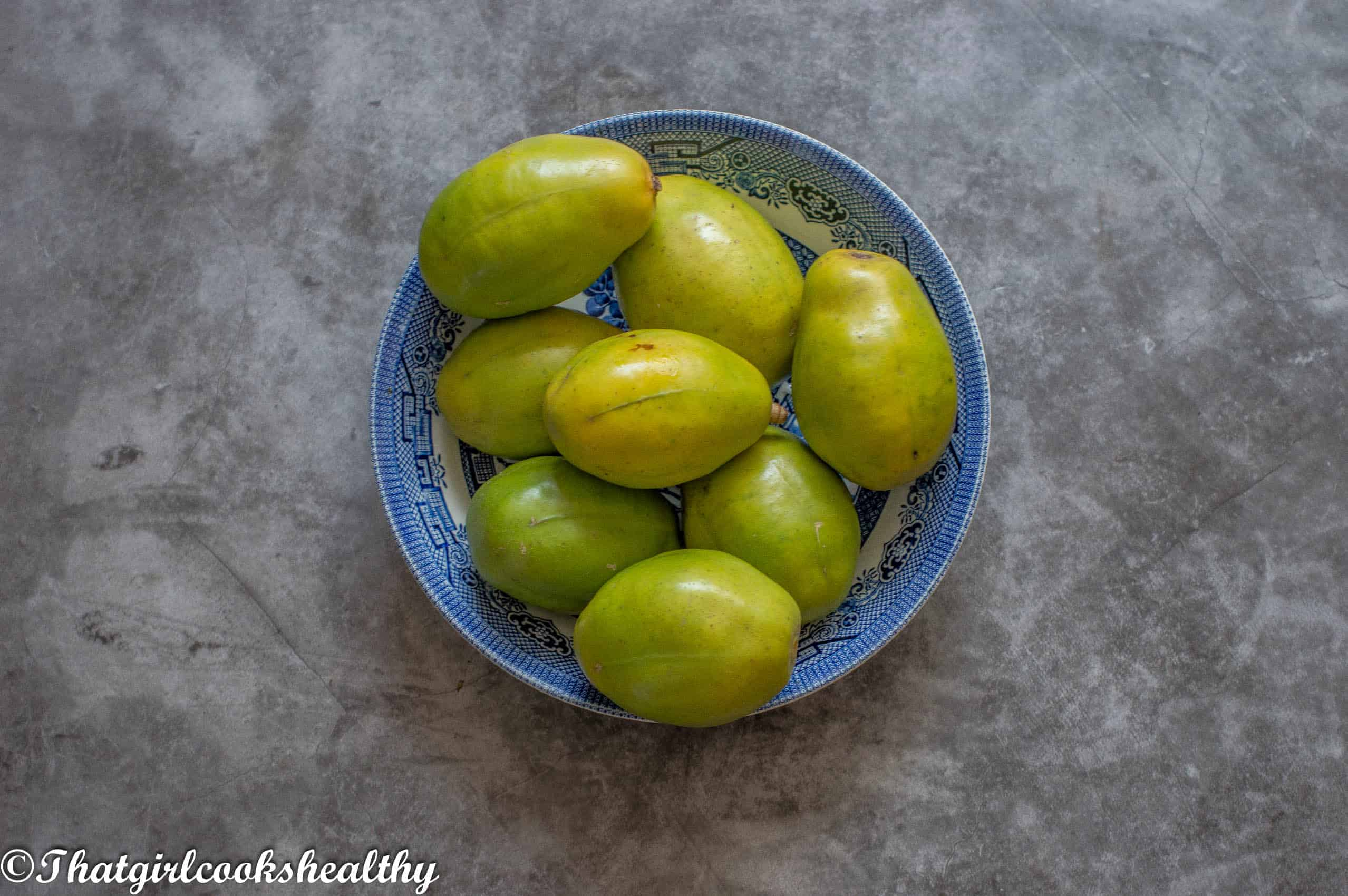 Fresh June Plums in a bowl