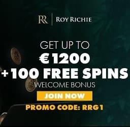 Roy Richie Casino Online 1200 EUR bonus and 100 extra spins