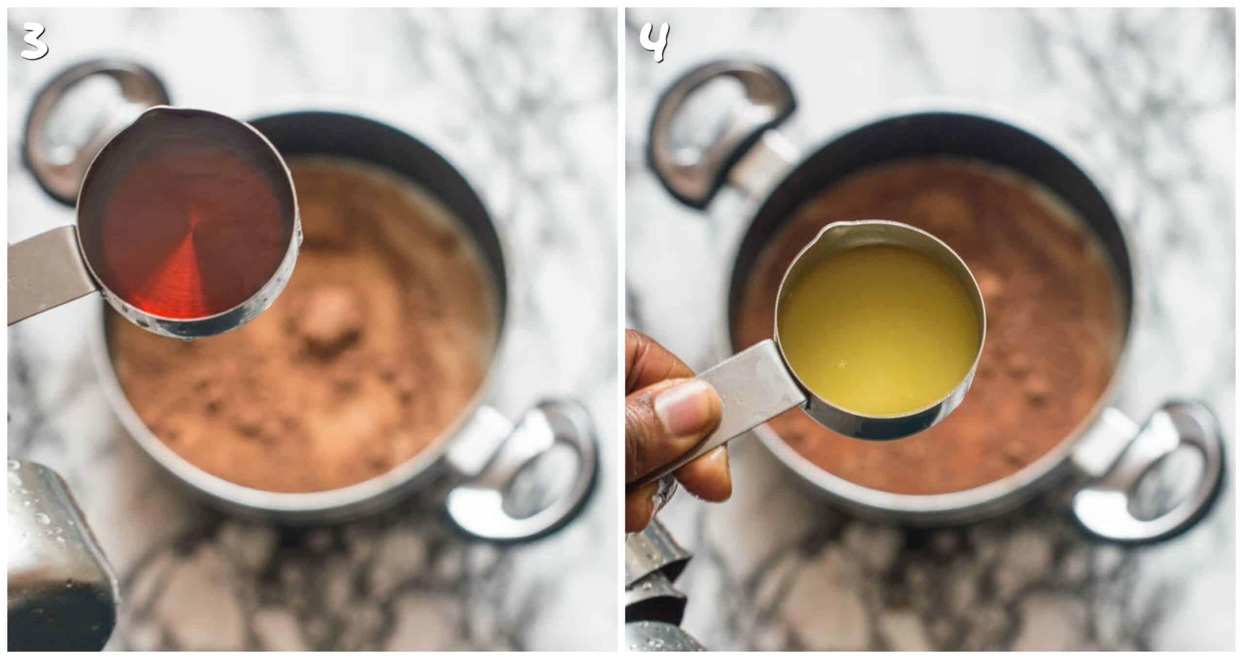 steps 3-4 adding agave nectar and orange juice