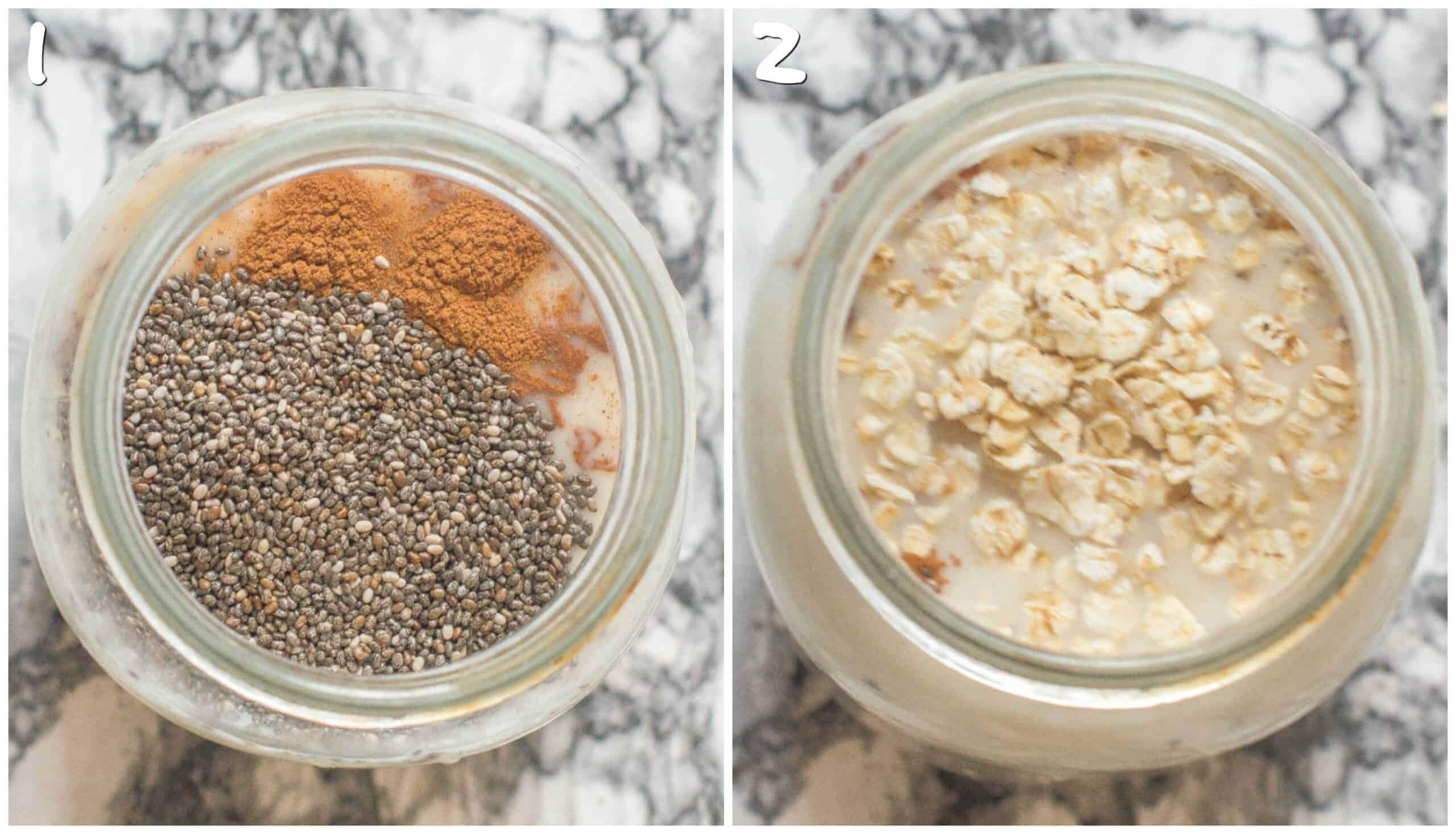 steps for making the overnight oats