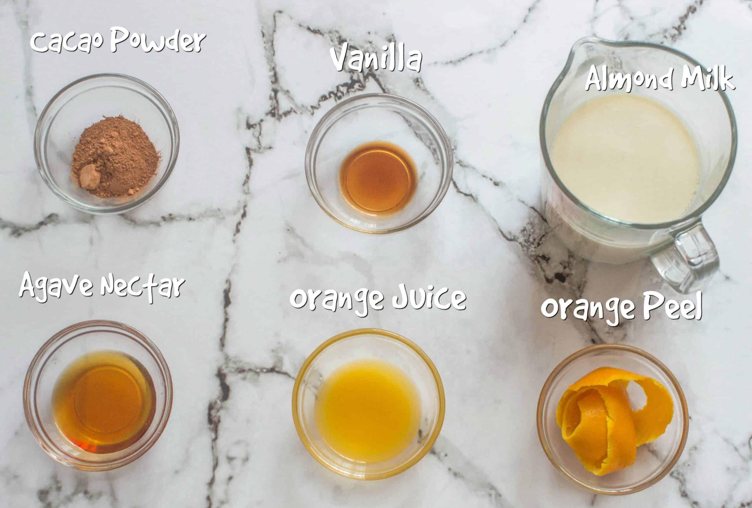 ingredients orange hot chocolate