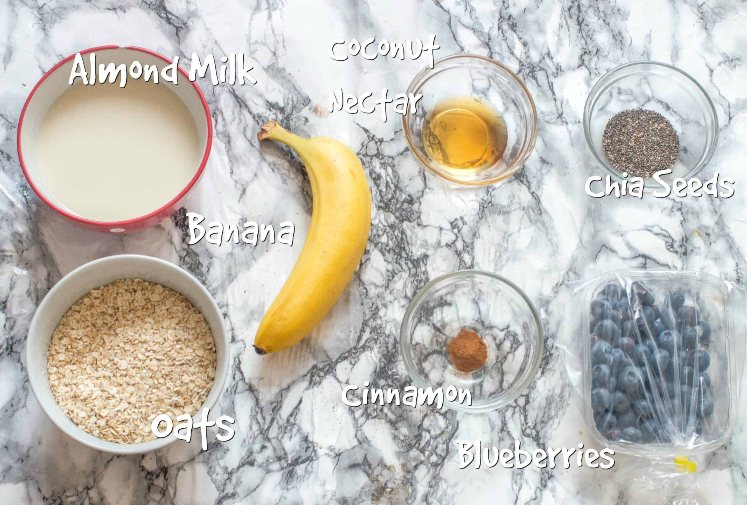 ingredients you will need for the oats overnight