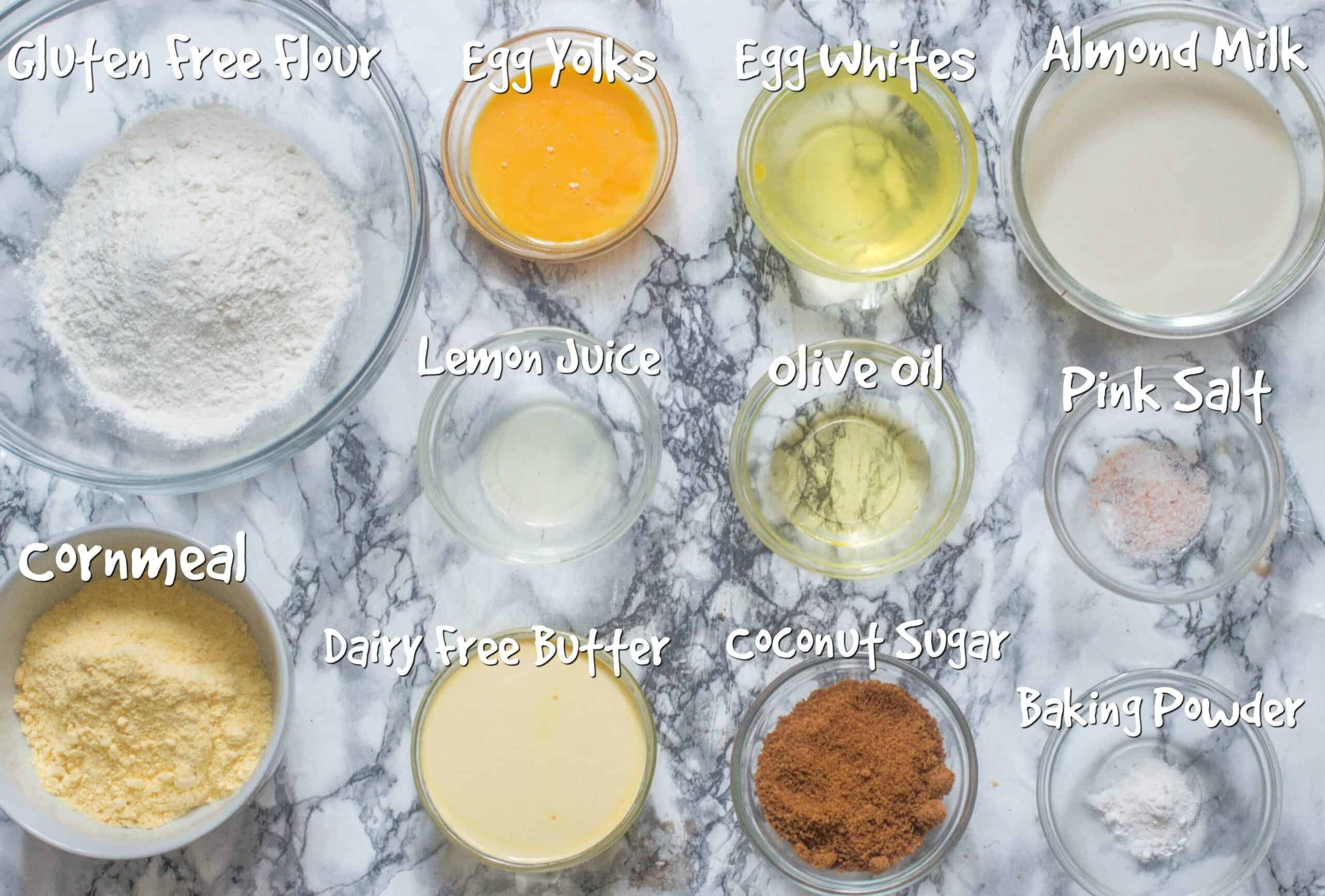 ingredients for dairy free cornbread