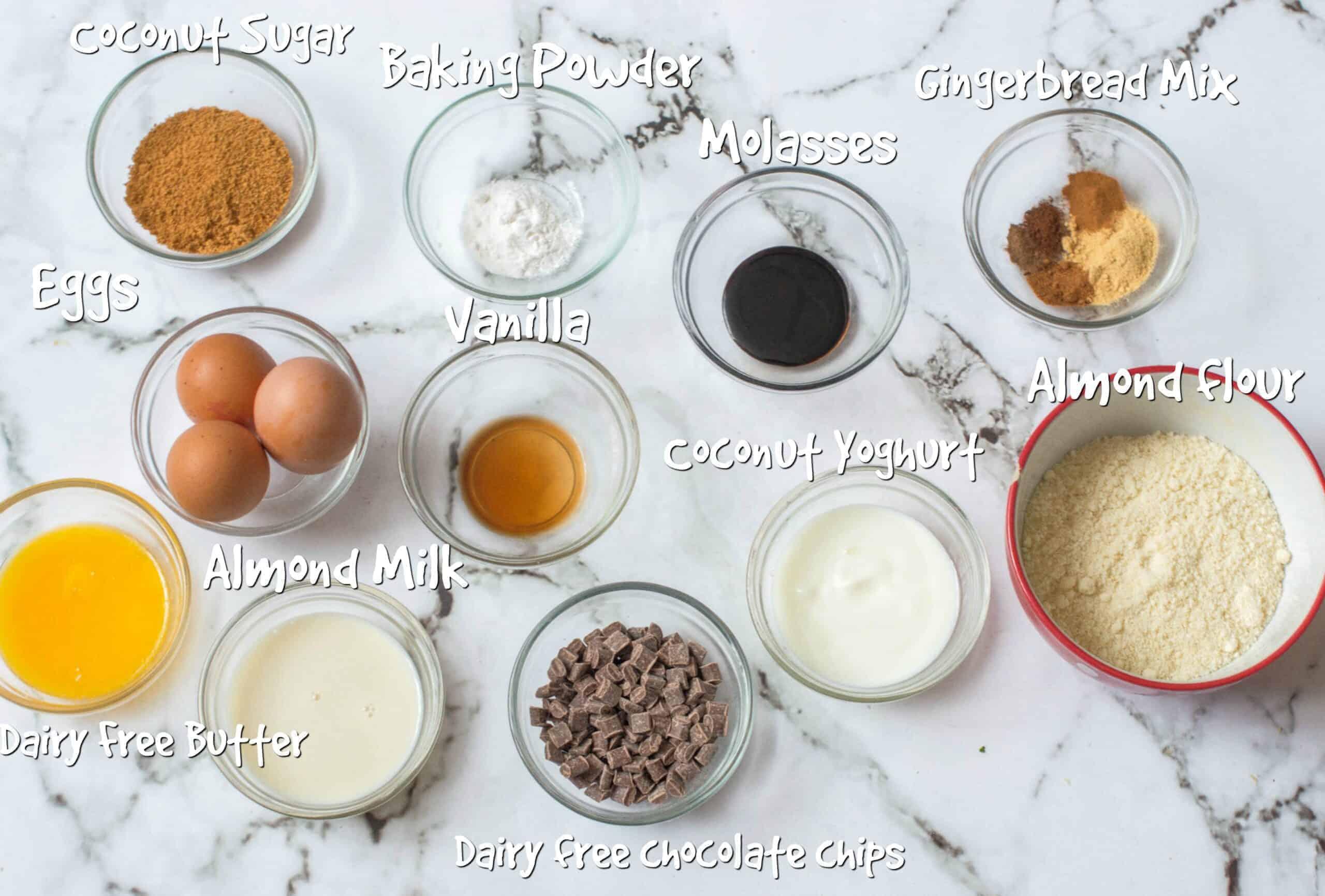 gluten free gingerbread muffins ingredients