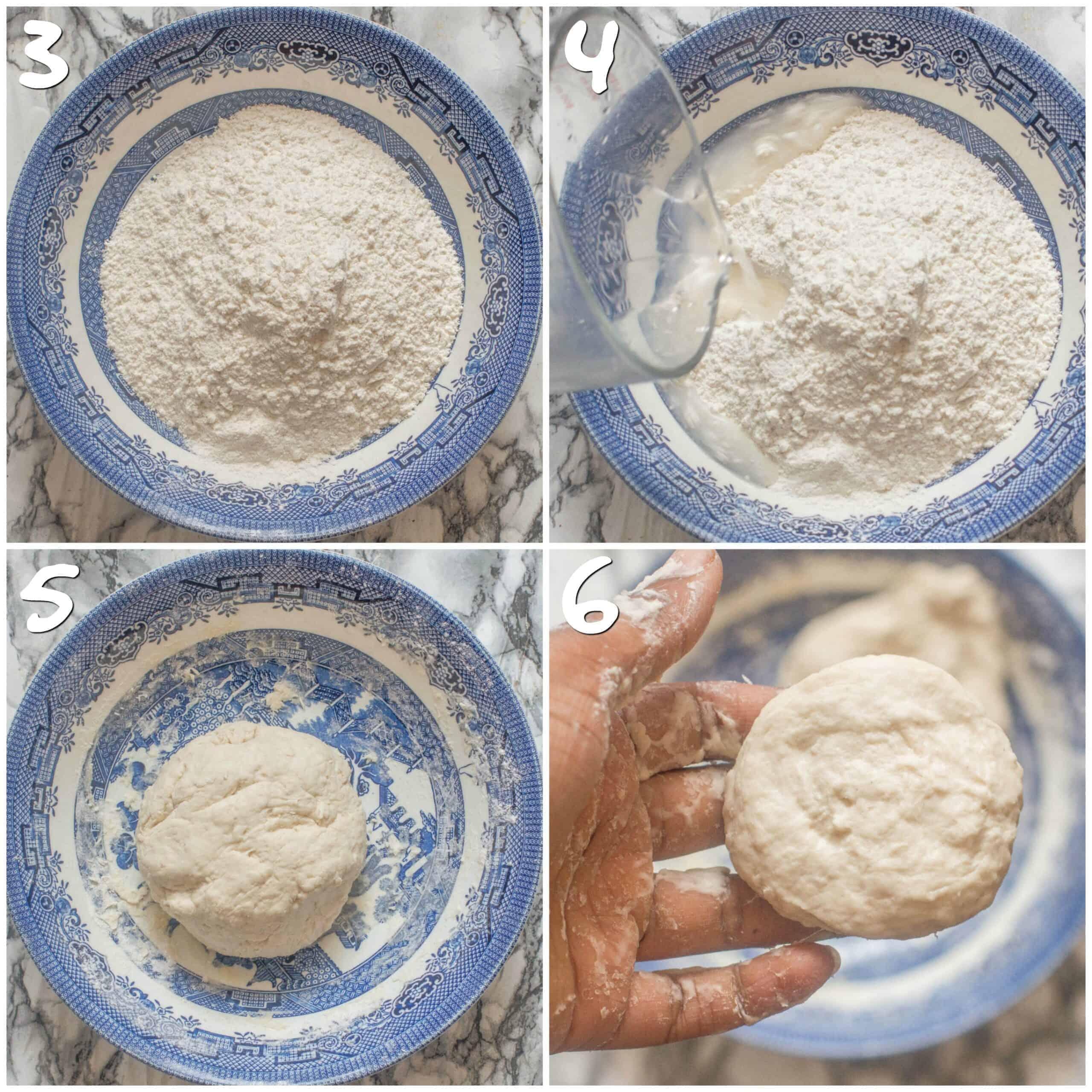 steps 3-6 making the dumpling