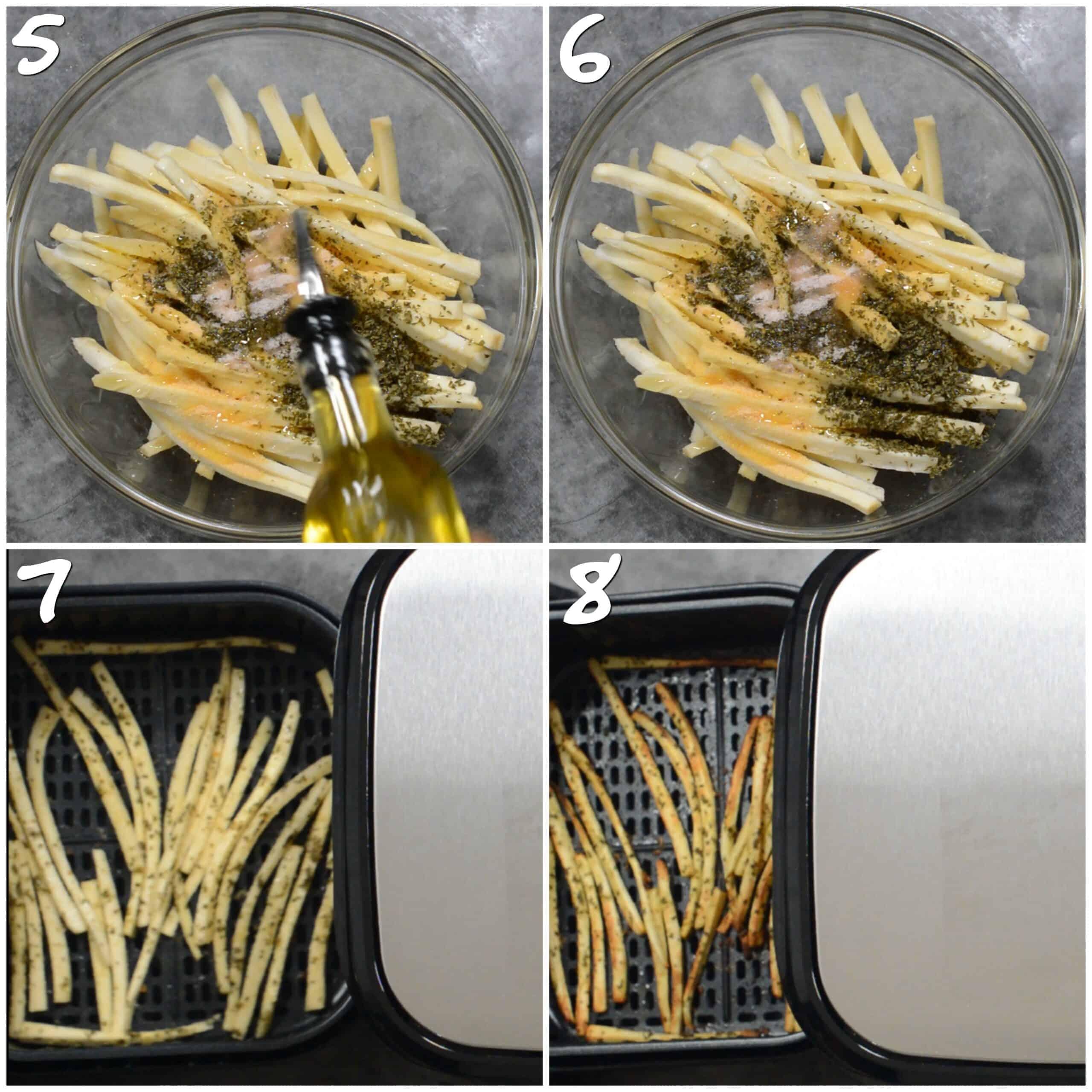 steps5-8 seasoning and air frying