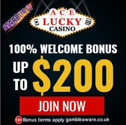Ace Lucky Casino $/€/£ 200 bonus and exclusive free spins - review