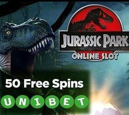 Unibet Casino   50 free spins and 100% first deposit bonus