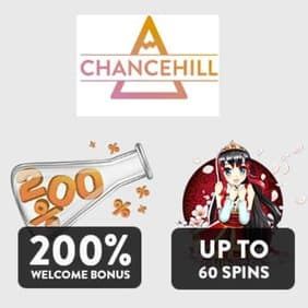 Chance Hill Casino 25 free spins + 100 gratis spins + 200% free bonus