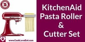 kitchenaid pasta roller & cutter set