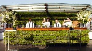 outdoor bar green