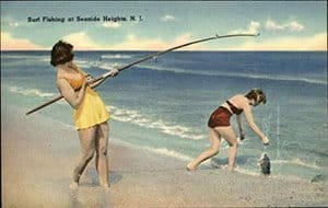 vintage fishing postcards