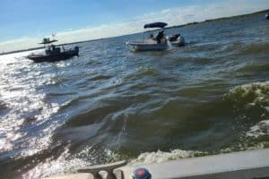 Volunteer Rescue Swimmer Saves Boaters on Rocks at Hart-Miller Island