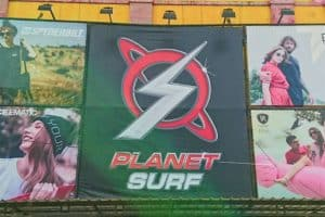 Colorful Planet Surf Sign in Sorong