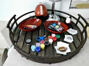 fun items to paint and decorate for football