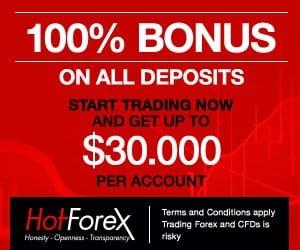 100% bonus hotforex