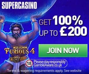 Super Casino - £10 no deposit and 100% free bonus up to £200