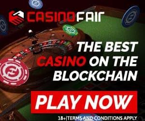 CasinoFair 20,000 FUN (~60 USD) free token bonus