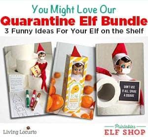 Funny Quarantine Printables for Elf on the Shelf